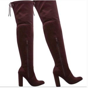 TARGET PLUM FAUX SUEDE  OVER THE KNEE BOOTS 7